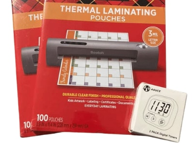 Using Thermal Laminating Pouches
