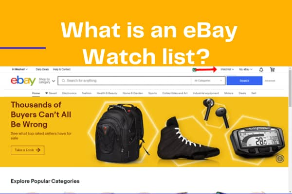 What is an eBay Watch list? Search, Share & Edit