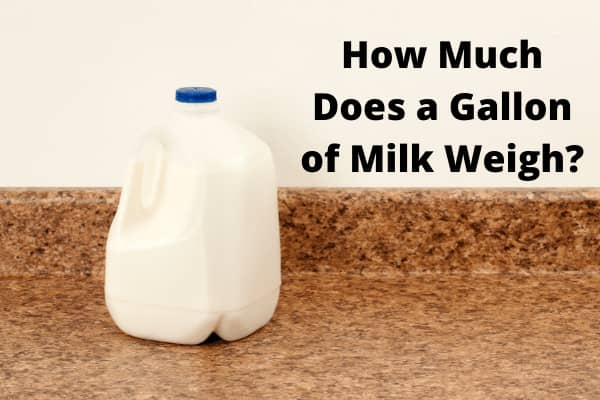 How Much Does a Gallon of Milk Weigh? Latest Number